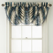 Royal Velvet® Kingston Stripe Rod-Pocket Waterfall Valance
