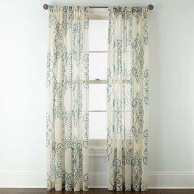 Royal Velvet® Ardesia Rod-Pocket Sheer Curtain Panel