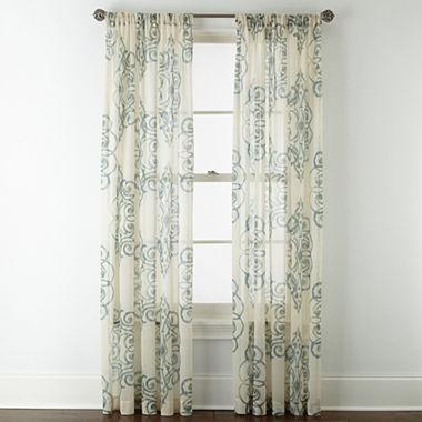 Royal Velvet Ardesia Rod Pocket Sheer Panel