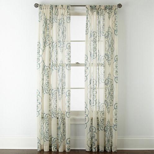 Royal Velvet® Ardesia Rod-Pocket Sheer Curtain Panel