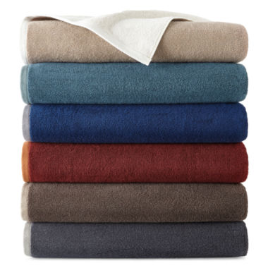 jcpenney.com | JCPenney Home™ Yarn-Dyed Reversible Bath Towels