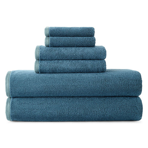 JCPenney Home™ Yarn-Dyed Reversible 6-pc. Towel Set