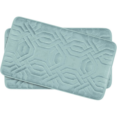"Bounce Comfort Chain Ring Memory Foam 17x24"" 2-pc. Bath Mat Set"