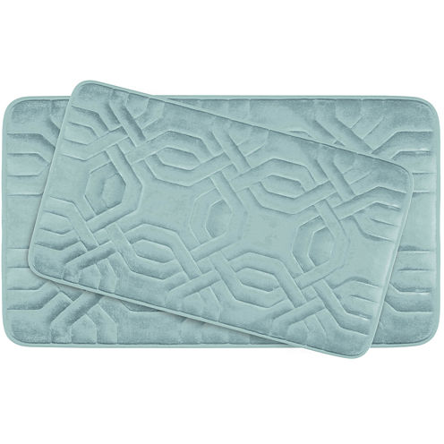 Bounce Comfort Chain Ring Memory Foam 2-pc. Bath Mat Set
