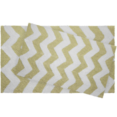 jcpenney.com | Jeane Pierre Zigzag Reversible Cotton 2-pc. Bath Mat Set