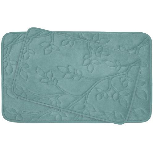 Bounce Comfort Spring Leaves 2-pc. Memory Foam Bath Mat Set