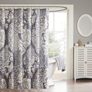 jcpenney.com | Madison Park Marcella Cotton Leaf Print Shower Curtain