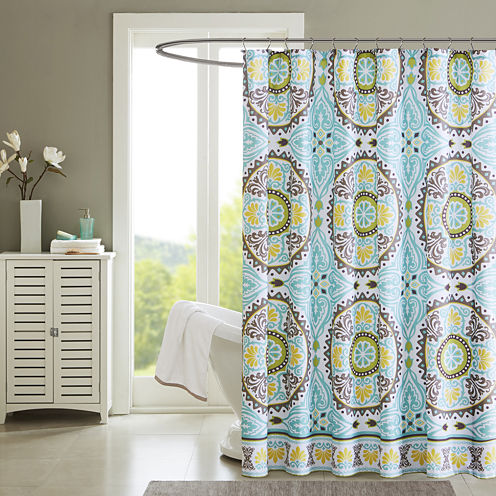 Madison Park Bali Printed Shower Curtain