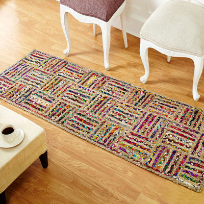 Better Trends Criss Cross Braided Runner Rug