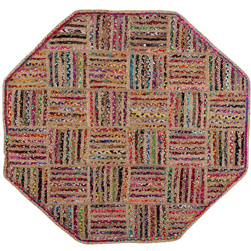Better Trends Criss Cross Braided Octagonal Rug