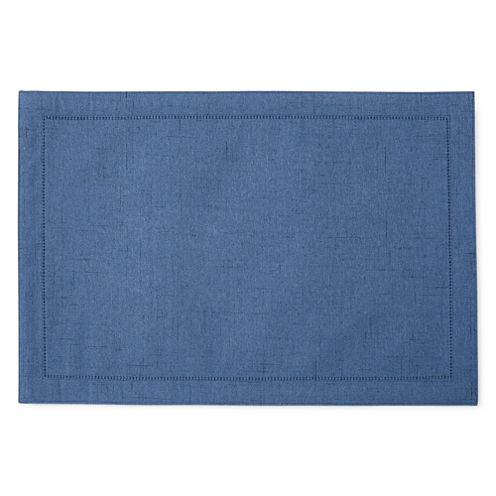 JCPenney Home® Brighton Hemstitch Set of 4 Placemats