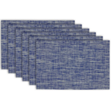 jcpenney.com | Design Imports Nautical Blue Tweed Set of 6 Placemats