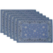 Design Imports Printed Bandana Set of 6 Placemats