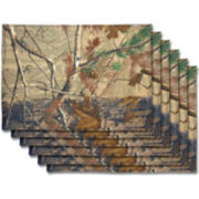 Real Tree Set Of 6 Reversible Placemats