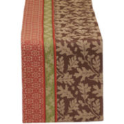 Great Oak Stripe Jacquard Cotton Table Runner