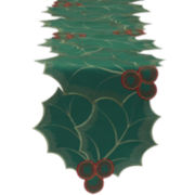 Holly Embroidered Table Runner