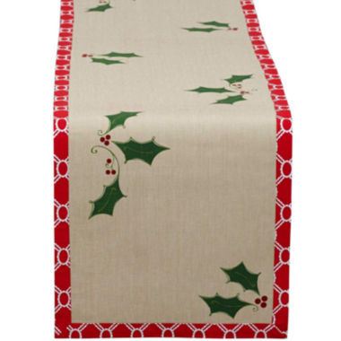 jcpenney.com | Holly Jolly Printed Cotton Table Runner
