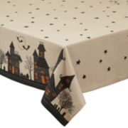 Design Imports Haunted House Tablecloth