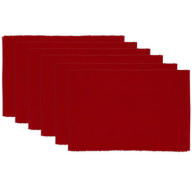 jcpenney.com | Avanti Red Cider Set of 6 Placemats