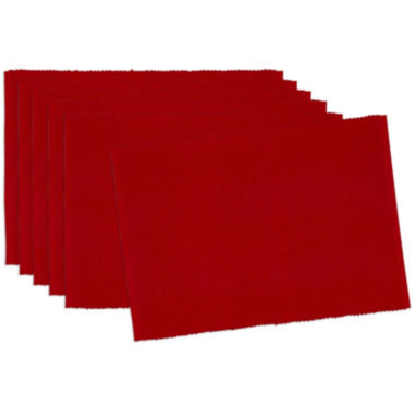 jcpenney.com | Design Imports Tango Red Set of 6 Placemats