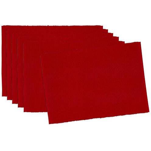 Design Imports Tango Red Set of 6 Placemats