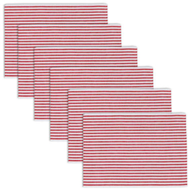 jcpenney.com | Peppermint Stripe Set of 6 Placemats