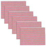 Peppermint Stripe Set of 6 Placemats