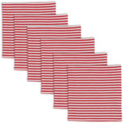 Peppermint Stripe Set of 6 Napkins