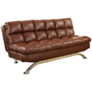 Callie Faux Leather Futon