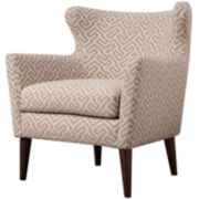 Letti Winged-Arm Accent Chair