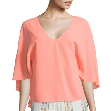 jcpenney.com | Bisou Bisou® Cape-Sleeve Top