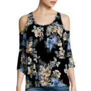 i jeans by Buffalo Short-Sleeve Cold-Shoulder Top