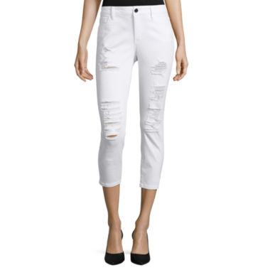 jcpenney.com | a.n.a® Destroyed Cropped Skinny Jeans - Tall