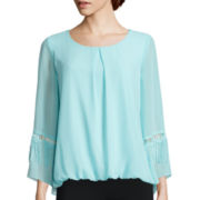 Alyx® Long-Sleeve Fringe Bubble Top