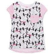 Okie Dokie® Short-Sleeve Printed Tee - Toddler Girls 2t-5t