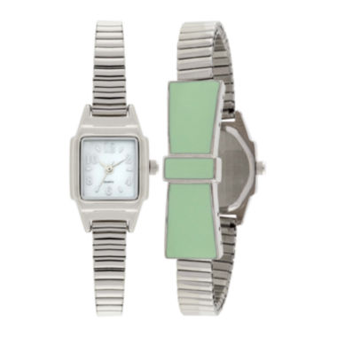 jcpenney.com | Womens Stretch Bow Square Case Watch