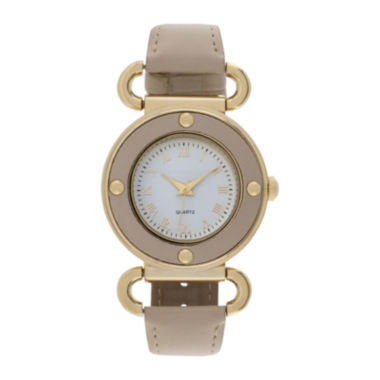 jcpenney.com | Womens Four Dot Circular Roman Numeral Watch