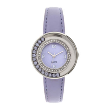 jcpenney.com | Womens Floating Stone See-Through Watch