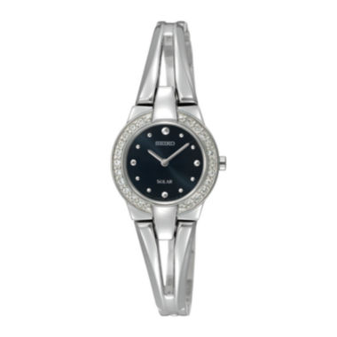 jcpenney.com | Seiko® Solar Womens Crystal-Accent Bracelet Watch SUP205