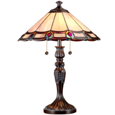 jcpenney.com | Dale Tiffany™ Aldridge Peacock Table Lamp