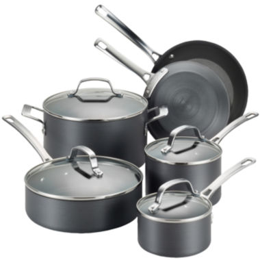 jcpenney.com | Circulon® Genesis 10-pc. Hard-Anodized Nonstick Cookware Set