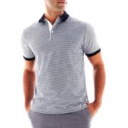 Claiborne Fine-Striped Polo Shirt