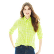 Joe Fresh™ Long-Sleeve Gingham Check Shirt