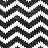 B W Chevron Straw