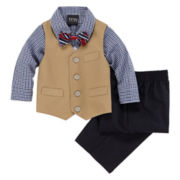 4-pc. Twill Vest Set - Boys 12-24m