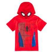 Spider-Man Hooded Graphic Tee – Toddler Boys 2t-5t