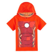 Iron Man Hooded Graphic Tee - Toddler Boys 2t-5t
