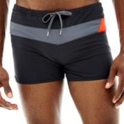 Speedo® Horizontal Prism Splice Square-Leg Swim Trunks