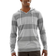 Vans® Skillz Nep Stripe Long-Sleeve Hooded Knit Shirt