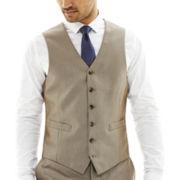 JF J. Ferrar® Slim-Fit Luster Herringbone Suit Vest